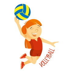 Kinds of sports. Athlete. Volleyball