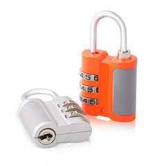 Keep your home and office safe with this 3 digit combination lock pattern with two beautiful color combo orange and silver. It is built to very high standards and each lock is quality checked and test