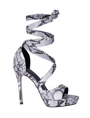 Beautiful and pretty women black and white printed lace up high heel that perfect finishing touch to any outfit. This gorgeous heel made of high quality materials, comfortable and have slick look.