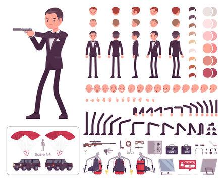 Secret agent man, gentleman spy, intelligence service character creation set