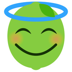 Engel Emoticon - Limette