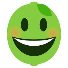 Emoji lachend - Limette
