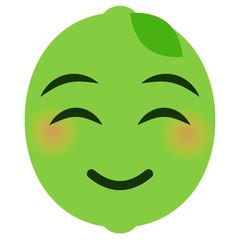 Emoji glücklich - Limette