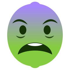 Emoji geschockt - Limette