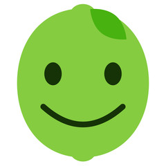 freuendes Emoticon - Limette