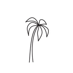 palm tree icon on white background