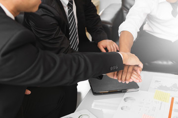 businessman develop plan and make strategy for invest in global market ; business teamwork review and analyze information report of economic investment at office.