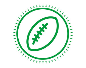 rugby green icon sport equipment tool utensil image vector