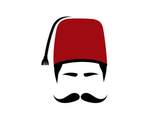 Turkish, Fez, Moustache and Turkish Hat