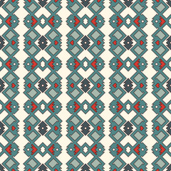 Ethnic style seamless pattern. Native americans abstract background. Tribal motif. Boho chic digital paper