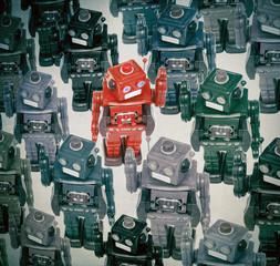 robots crowd
