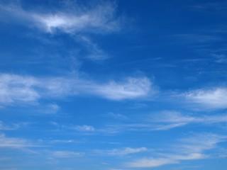一面の雲と青空