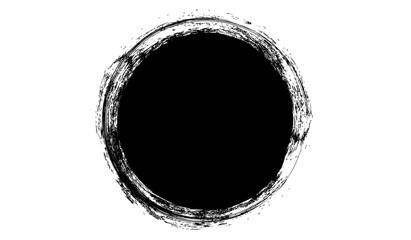 Grunge black stamp.Grunge circle for your design.Grunge ink stamp. Wall mural