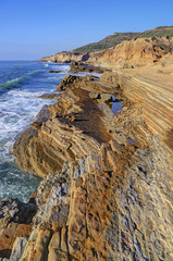 Landscape of the Southern California coast outside of San Diego.