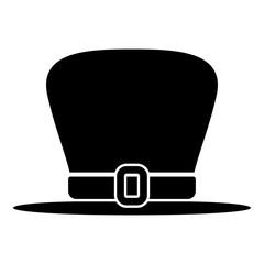Hat leprechaun icon black color illustration flat style simple image