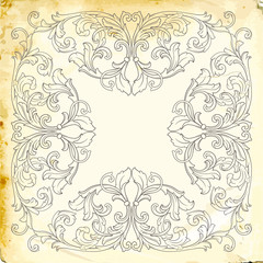 Vector baroque of vintage elements for design.
