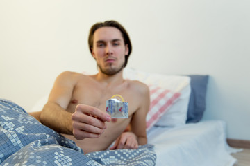 Safe sex concept