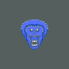 Gorilla mascot vector head logo premium sport emblem illustration isolated