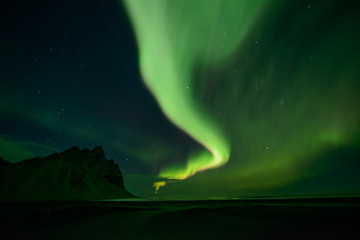 northern lights at Stokksnes in OIceland