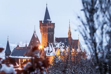 Das Schloss Wernigerode im Winter