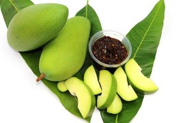 Fresh green sweet mango