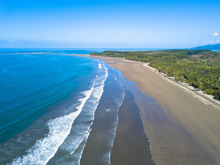 Luftbild, Uvita Beach in Costa Rica