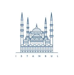 Istanbul city. illustration.