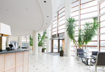 Big hall in hotel