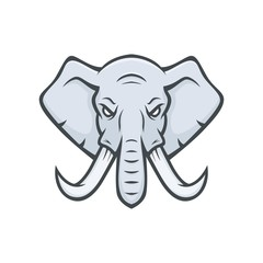 Elephant mascot vector logotype head sport illustration emblem isolated