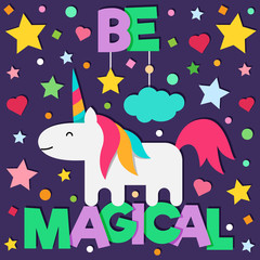 Be magical. Vector illustration.