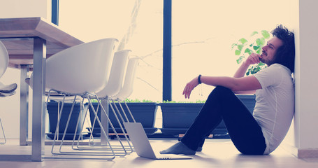 man enjoying relaxing lifestyle