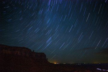 Startrails in Monument Valley