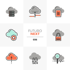 Cloud Computing Futuro Next Icons
