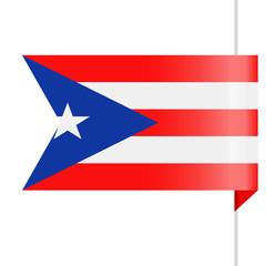 Puerto Rico Flag Vector Bookmark Icon