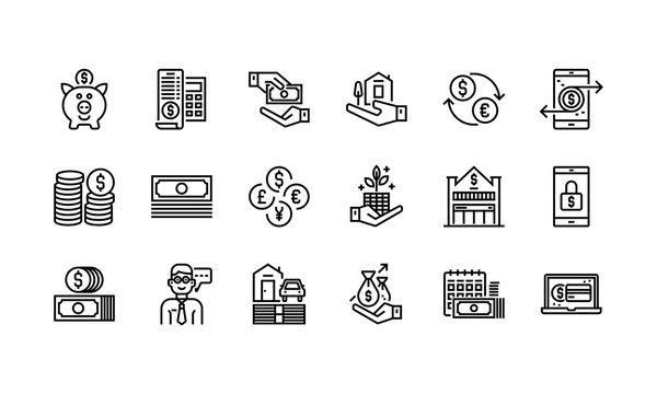 Banking and finance icons set 2