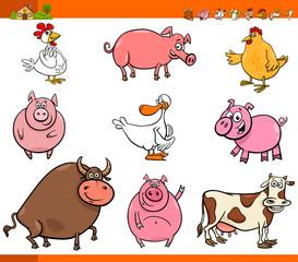 cartoon farm animal characters collection