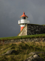 Leuchtturm - Festung Skansin- Torshavn- Färöer Inseln