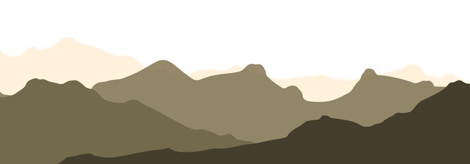 mountains silhouette illustration