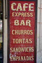 Café, churros, empanadas... à Buenos Aires, Argentine