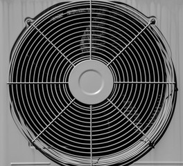white grille of air conditioner