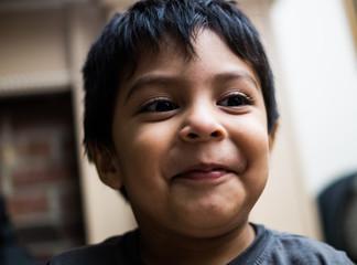 Young latino boy smile