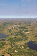 Photo of the tundra from above.