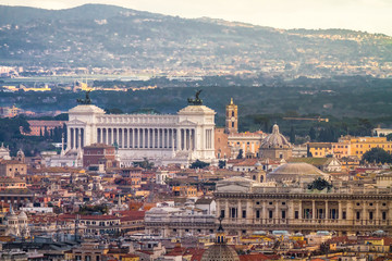 View of Rome and the VIttoriano from afar