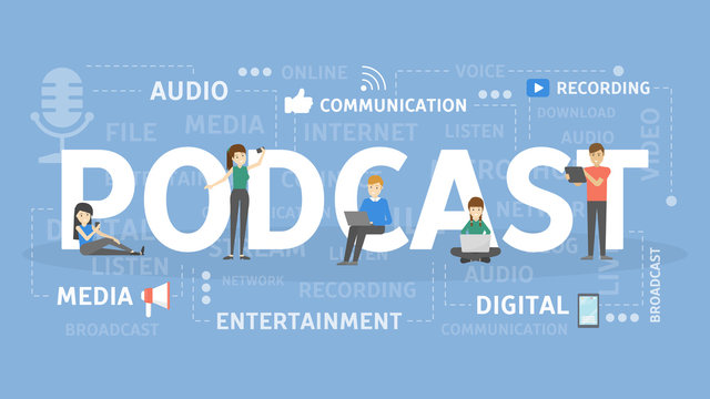 Podcast concept illustration.