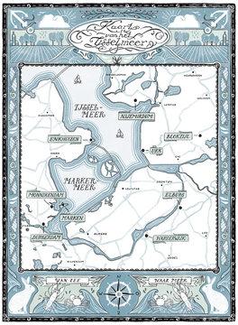 Map of Het IJsselmeer in the Netherlands