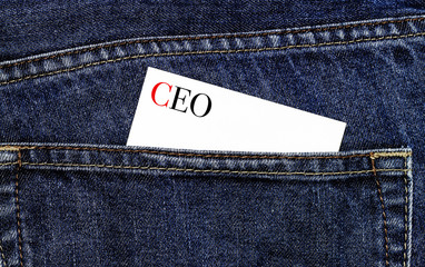 CEO symbol on a business card