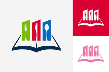 Food Book Logo Template Design Vector, Emblem, Design Concept, Creative Symbol, Icon