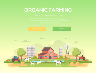 Organic farming - modern flat design style vector illustration