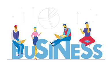 Business - flat design style colorful illustration
