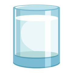 Vector Illustration Of Glass Milk